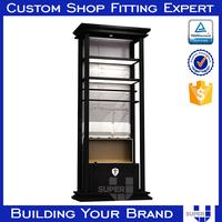 Retail shop modern man clothes showcase LED light showcase shelf