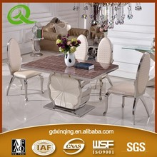 TH385 heated modern dining room table marble dining room table