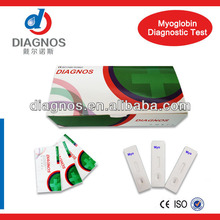 sale! 2013 new product Myoglobin medical diagnostic test for home/ accurate one step test cassette