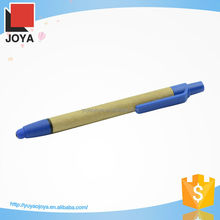 Travel Convenient Recycled Paper Pen with Stylus