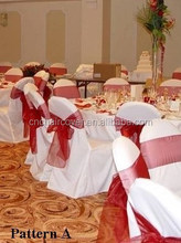 Ribbons Satin Chair Sashes for Wedding Decoration