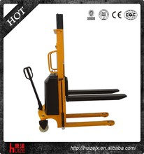 2 Ton Semi Electric Walkier Straddle Stacker Forklift