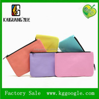 2015 kaiguang bag factory zipper closed leather or cotton pouch bag with custom logo