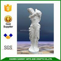 Garden decorative 125cmH fiberglass large lady statues