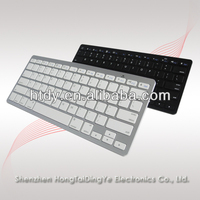 Hot design ultra-thin ABS bluetooth keyboard for ipad/ipad mini/ samsung galaxy tablet pc