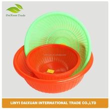 home storage organization green plastic eco-friendly food vegetable plastic washing basket