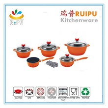 Kitchen accessories 21pcs non-stick cookware set & prestige cookware set kitchen utensil sapphire cookware set from wuyi