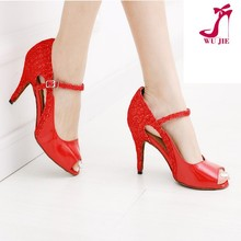 2015 red party and wedding women dance shoes /latin and ballroom dance shoes