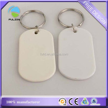 cheaper ABS hard plastic blank clear cream white assorted keyring
