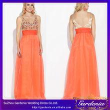 de color naranja de cuentas real de la muestra de largo hinchada fotos de vestidos de arty