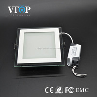15w square glass led panel light Factory direct sale meeting room