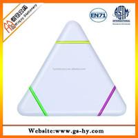 Triangle shape permanent highlighter marker pen
