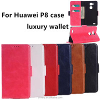 2015 new products for huawei p8 case high quality leather wallet flip ascend p8 cell phone case china suppliers