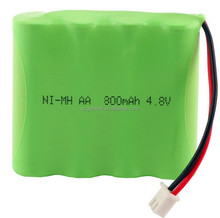 NI-MH AA 800Mah 4.8V Rechargeable Battery Pack