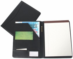 Padfolio Presentation Folder Business Case with Inserted Note Pad and Folder for Documents Royce Leather Writing Portfolio