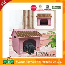 2015 Nuevos productos para animales domésticos, casa de madera de fácil montaje para perro, de diseño en rosa, en venta