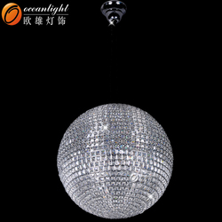 crystal ball chrome and golden pendant lamp for project OM55004