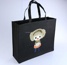 New arrival cute non woven bag wholesale custom shopping bag(QUTB-011)
