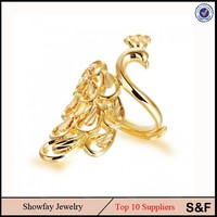 Women Stainless Steel Jewelry Animal Shape Jewelry Lovely Ring 361L Steel Peacock Ring