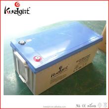 Sealed lead acid agm battery 12 200Ah maintenance free solar power battery solar energy system
