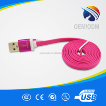 Delicate craft and thick line USB data cable for micro contactor