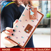 Mignon long portefeuille bande dessinée à importation avec suspendus pendentif sac d'argent filles