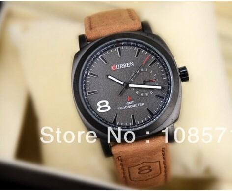 модный стиль curren 3atm водонепроницаемые кварцевые бизнес мужчины часы ж / подарок моды военных армии vogue наручные часы 2 цвета
