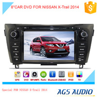 8inch fixed digital panel car DVD player for NISSAN X-Trail 2014 with GPS TV and bluetooth