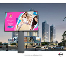 Hot sale outdoor advertising LED fabric light box unipole billboard