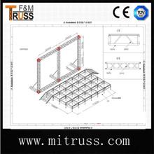 Profession Canton Fair aluminum stand truss bright color with TUV manufacturer