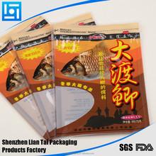 Printed factory price zip bag for fish food/snack/dog food/cookies