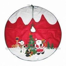 Santa And Snowman Pattern Christmas Tree Skirt