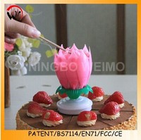 Fancy flower musical candle magic birthday lotus candle