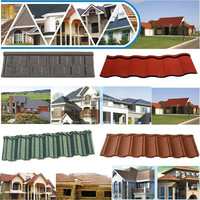 well polished natural wholesale stone coated steel roofing tile