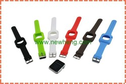 2015 silicon strap for apple watch with metal buckle