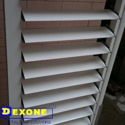 External architectual aluminum louver frame