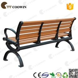 Coowin Long-life low price cast iron backless wpc park bench