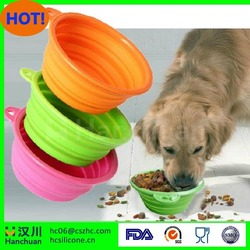 collapsible Foldable pet feeders silicone dog bowl or pet bowl