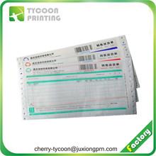 CB colored carbonless paper printing