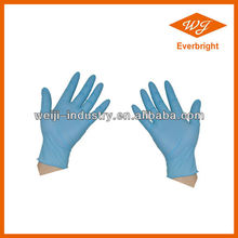 Disposable medical /food processing nitrile glove,green chemical resistance nitrile gloves