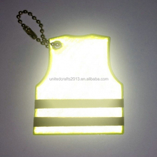 new product,custom reflective pvc keychains for promotional