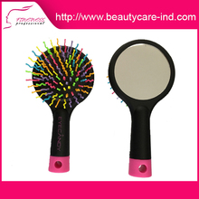 Beautiful hot sale salon professional abundant hair & detangling comb with mirror