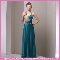 MPTC018 Halter combined top emerald green gold sequin glass diamond unique evening dresse new arrivals 2014 long evening dresses