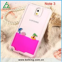 2015 Newest Liquid Plastic Dolphin Case For Samsung Note3, For Samsung Note3 Slim Hard PC Case