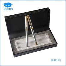Slivery gift fountain metal pen sets gel pen for 2015 new product