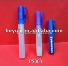 5ml 8ml 10ml PP bottle with pump sprayer plastic bottle /perfume bottle/perfume pen
