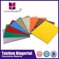 Alucoworld colour 4x8 acm sheet weather proof Aluminum Composite Panel
