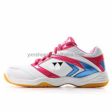 Indoor table tennis shoes sneakers for female high quality, women badminton shoes sport brand name made in jinjiang factory