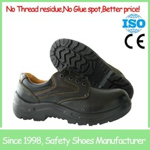 SF8138 Barton buffalo leather low cut black woodland safety shoes