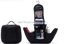 2015 Black New Shaving men's travel bags Deluxe Large Hanging Hook Travel Toiletry Kit bag Cosmetic Bags